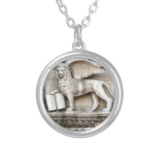 Venetian Lion Silver Plated Necklace