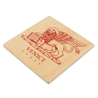 Venetian Lion Wood Coaster