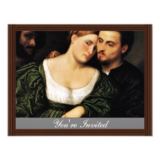 Venetian Lovers By Bordone Paris (Best Quality) Invitation