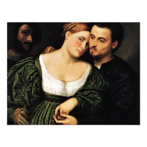 Venetian Lovers By Bordone Paris (Best Quality) Custom Invite