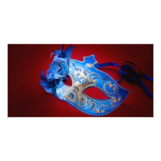 Venetian Mask Customized Photo Card