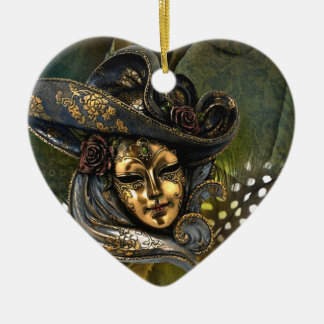 Venetian Mask Fantasy Christmas Ornament
