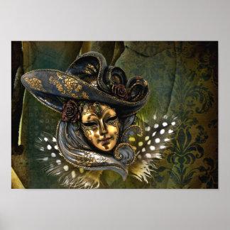 Venetian Mask Fantasy Poster
