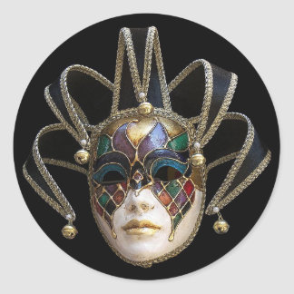Venetian Masks Classic Round Sticker