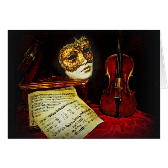 Venetian Masks collection - Musical night Card