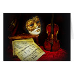 Venetian Masks collection - Musical night Greeting Card