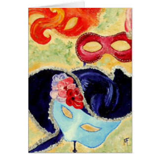 Venetian Masks - Greeting Card