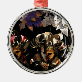 Venetian masks Silver-Colored round decoration