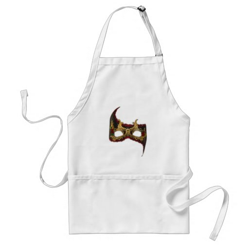 Venetian Masque: Gold and Red Rose Apron