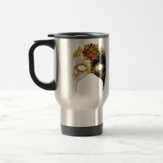 Venetian Masque: Ruby Jewel Stainless Steel Travel Mug
