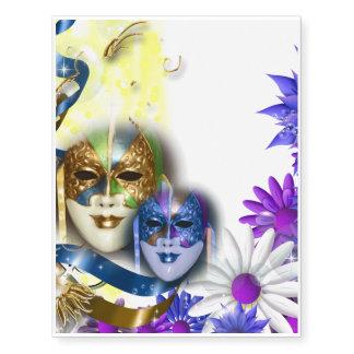 Venetian masquerade quinceanera masks TATTOO Temporary Tattoos