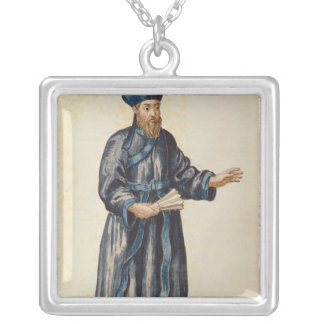 Venetian missionary in China Silver Plated Necklace