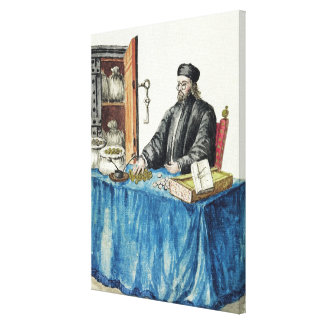 Venetian Moneylender, from an illustrated book Canvas Print