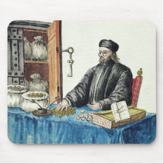 Venetian Moneylender, from an illustrated book Mouse Pad