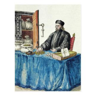 Venetian Moneylender, from an illustrated book Postcard