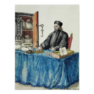 Venetian Moneylender, from an illustrated book Poster