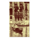 Venetian Monotone in Shades of Brown & Cream Business Cards