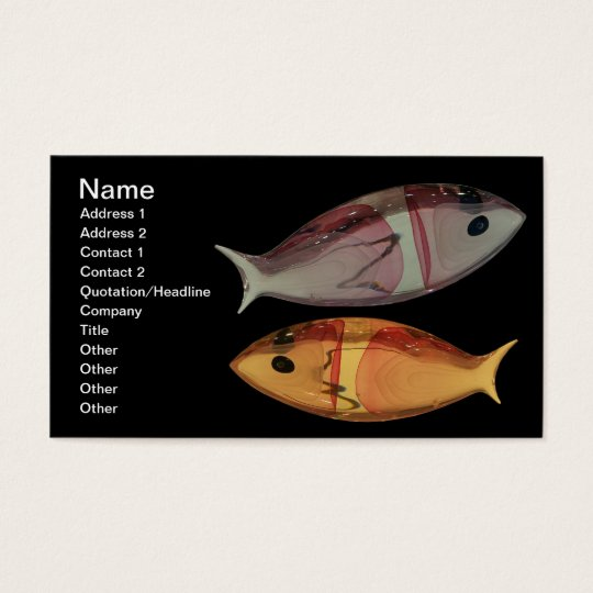 Venetian Murano Glass Fish Business Card