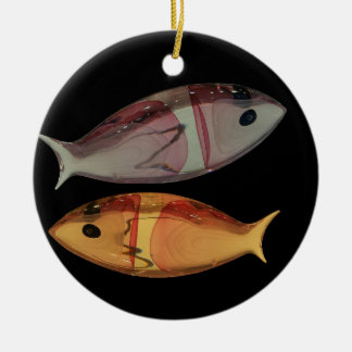 Venetian Murano Glass Fish Ornament