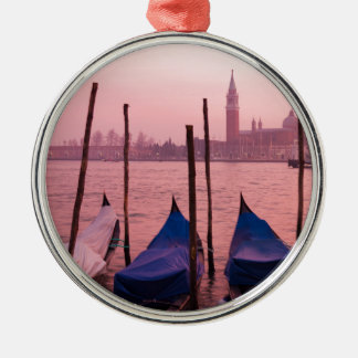 Venetian sunset Silver-Colored round decoration