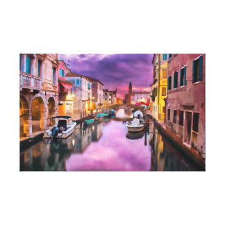 Venetian Waterway Canvas Print