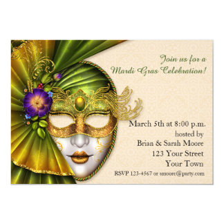 Venetion Mask, Masquerade Invitation