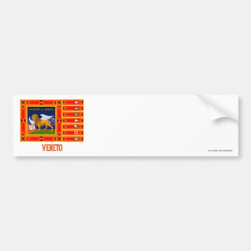 Veneto flag with name bumper stickers