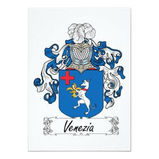 Venezia Family Crest 13 Cm X 18 Cm Invitation Card