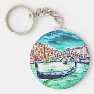 Venezia, Italy Basic Round Button Key Ring