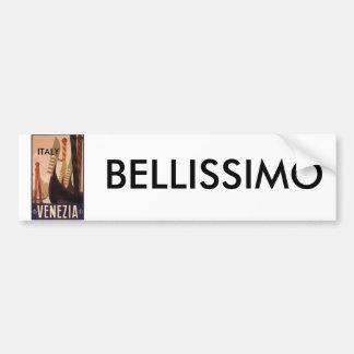 Venezia Italy, BELLISSIMO, ITALY Bumper Sticker