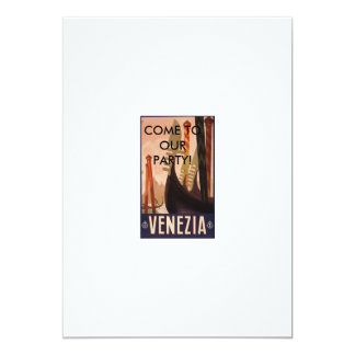 Venezia Italy, COME TO OUR PARTY! 13 Cm X 18 Cm Invitation Card