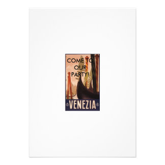 Venezia Italy COME TO OUR PARTY Personalized Invitations