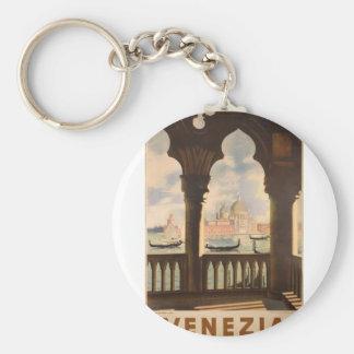 Venezia poster design basic round button key ring