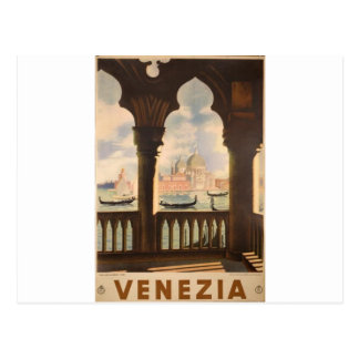 Venezia poster design post card