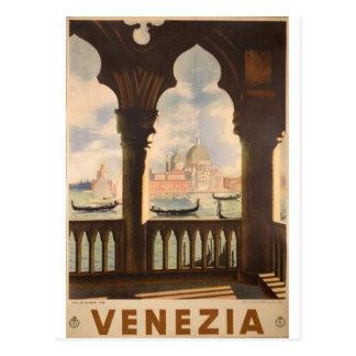 Venezia poster design postcard