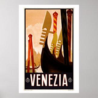 Venezia,Venice, Italy Vintage Travel Poster