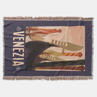 Venezia (Venice) vintage travel throw blanket
