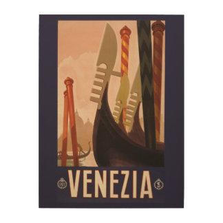 Venezia (Venise) Italy vintage travel wood canvas