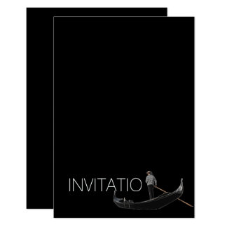 Venezian Gondola Invitation