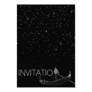 Venezian Gondola Invitation Stars Night