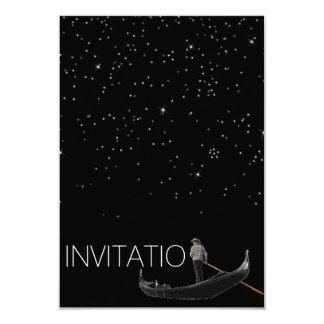 Venezian Gondola Invitation Stars Night