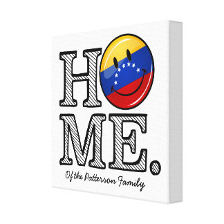 Venezuala Flag Smiley Housewarming Canvas Print