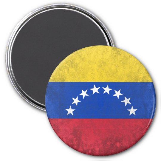 Venezuela 7.5 Cm Round Magnet