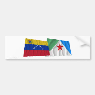 Venezuela and Mérida Waving Flags Bumper Sticker