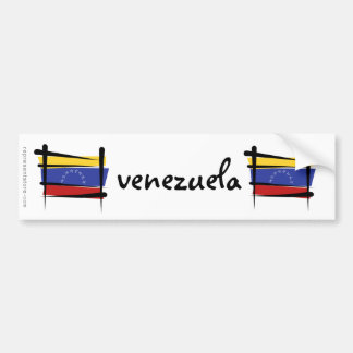 Venezuela Brush Flag Bumper Sticker