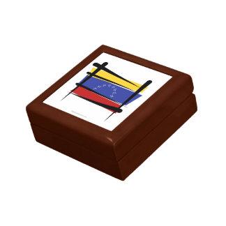 Venezuela Brush Flag Small Square Gift Box