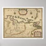 Venezuela by Hondius Map - 1630 Poster