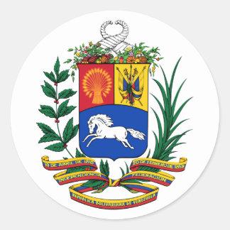 Venezuela COA Classic Round Sticker