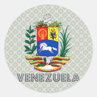 Venezuela Coat of Arms Classic Round Sticker