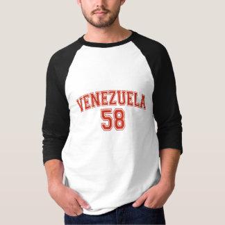 Venezuela Country Code Basic 3/4 Sleeve Raglan Shirt
